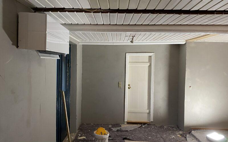 Fuldspartling af rå væg